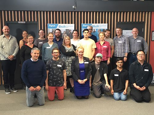 SIGNAL Dunedin's Agile Workshop team, from AD Inst