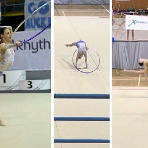 Bella Gruindelingh competing