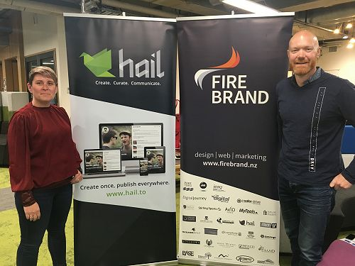 Bex and Paul Twemlow from Firebrand and Hail at TE