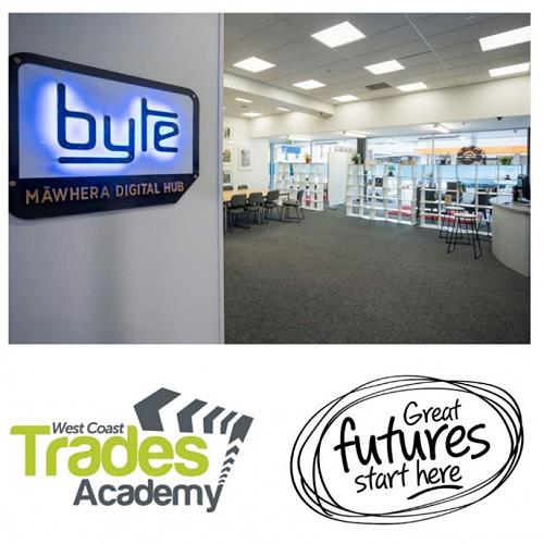West Coast Trades Academy new office location at Byte Māwhera Digital Hub!
