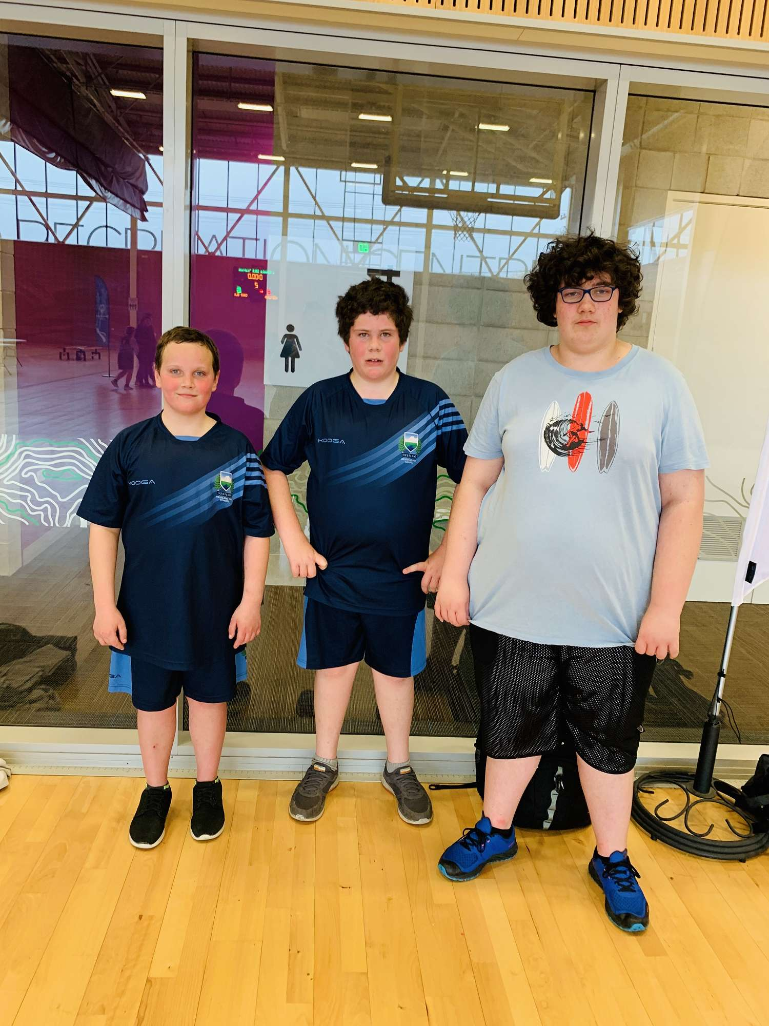 L. Hanright, K. Hopkinson, J. Billings at the 2019 West Coast Special Olympics