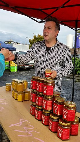Dave Milne of Blueskin Bay Honey has bees that forage from Orokonui Ecosanctuary