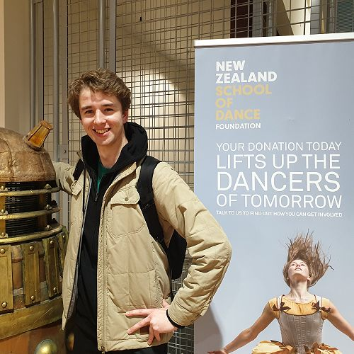 James Burchell - school leaver from last year, is currently studying at the NZ School of Dance
