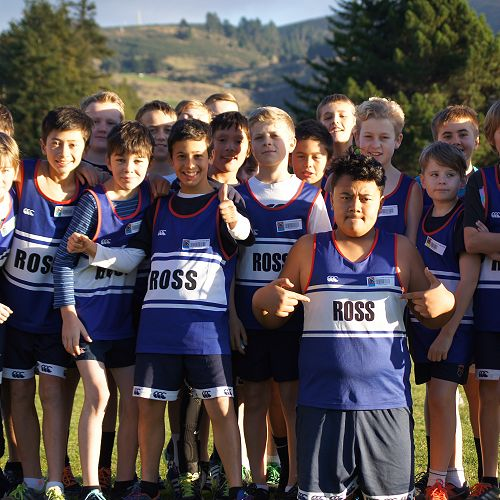 Ross House primary pupils prepare to race
