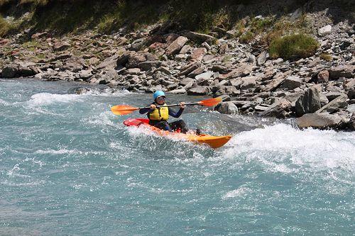 Harry enjoying one of the rapids