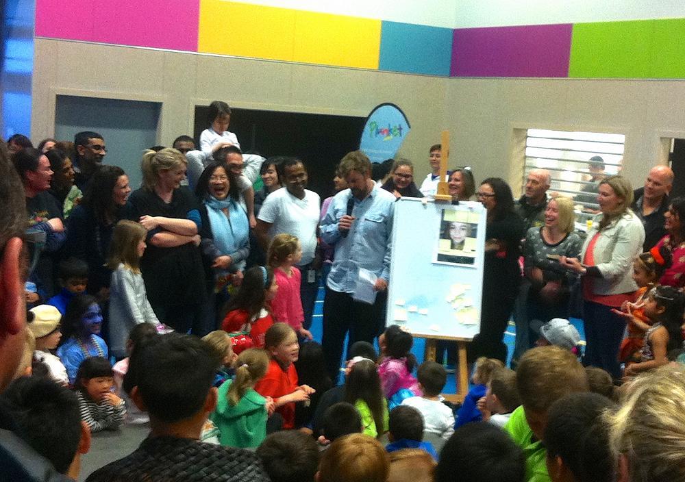 Matilda receiving the term 3, Koru Amesbury Awesomeness Award