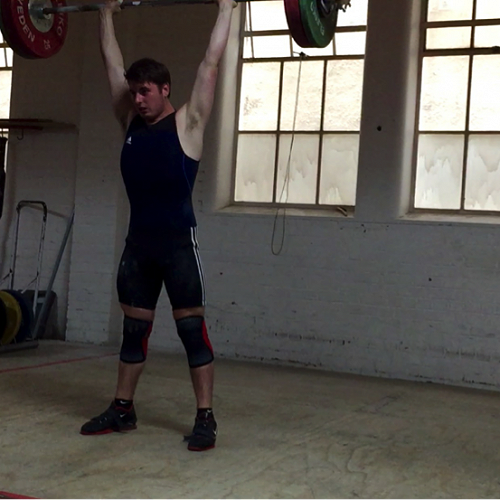 Josh Homersham trains in the sport of Olympic Weightlifting