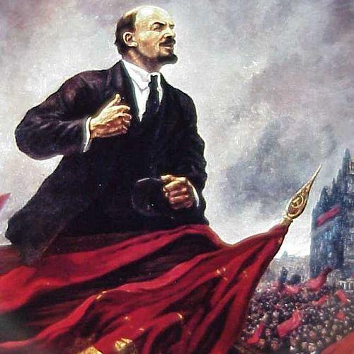 Propaganda painting of Vladimir Lenin