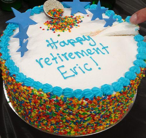 Eric Meinders retirement cake