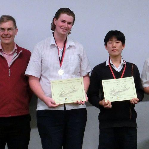 Mr Mike Read (Head of Physics, UC),Samuel Gamble, Leo Shin, Matthew Woermann.