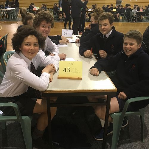 Year 9 Team - Sam Cottier, Stanley McClure, James Patterson and Will Pringle