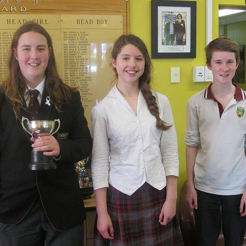 Otago Champion for Junior Speakers - Oscar LaDell