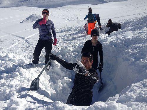 OED Snow Caving