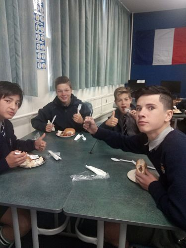 Year 9 German give traditional German sausages the