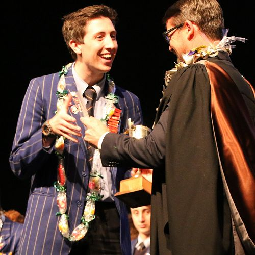 FATHER. J. J. O'SULLIVAN CUP AND THE UNIVERSITY OF CANTERBURY SCHOLARSHIP FOR DUX SCHOLARSHIP - Oscar Sergel Stringer