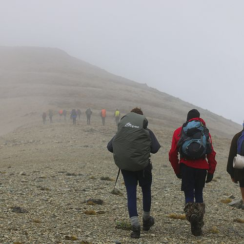 On route to the summit.