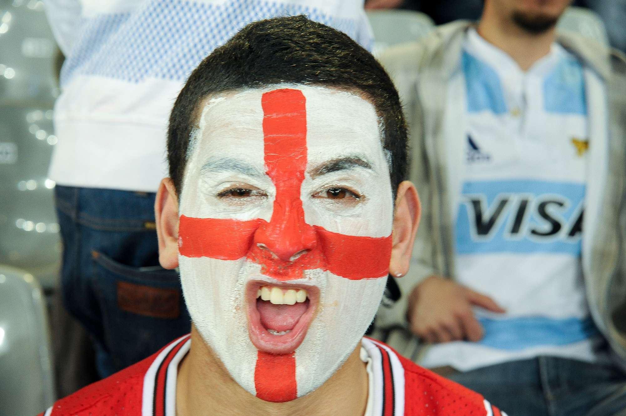 Supporter at England v Argentina Match