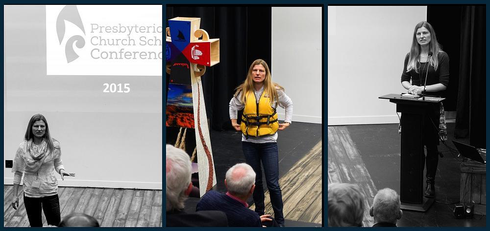 Dr Jennifer Macleodspeaks at Presbyterian Church Schools' Conference.