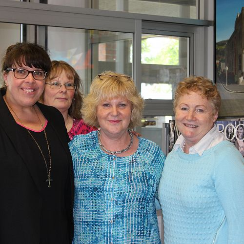 Partygoers Ms Fridd, Mrs Archer, Mrs Garry and Mrs North.