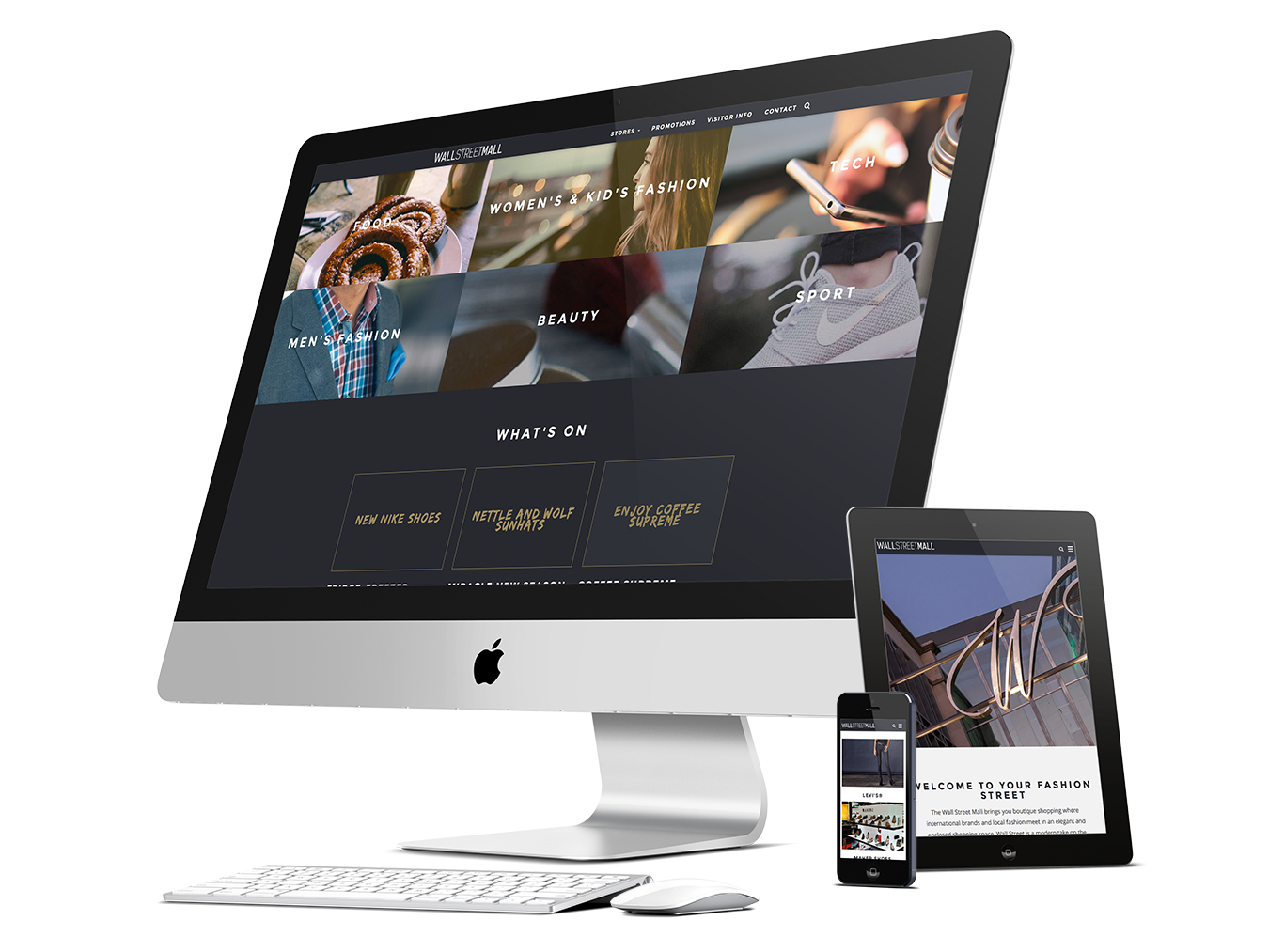 Wall Street Mall Responsive Website