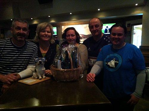 The winning team: David, Cathy, Gail, Chris and Ur