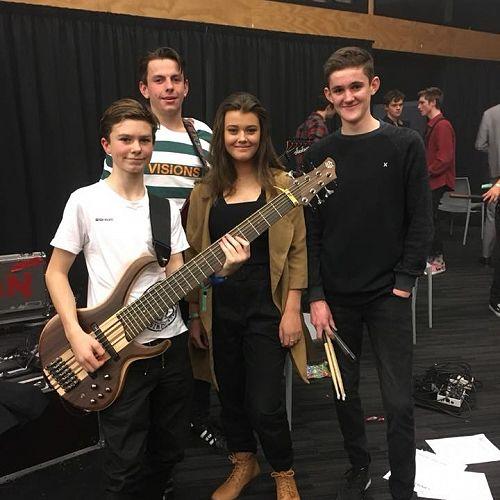 Kayne Child on Guitar,Josh McCaffery on Bass, Kiera Jonkers on vocals, Joel Coleman on Drums