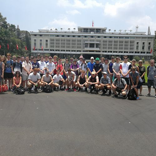 The group at the Reunification Palace, Ho Chi Minh City
