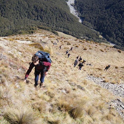 10GMU heading up Mt Mason