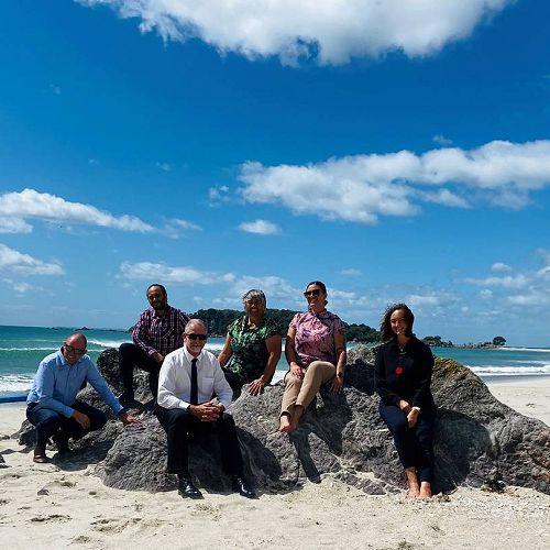 Ken Ward, Reg Blake, Henk Popping, Vianney Douglas, Toni Heke-Ririnui and Arohanoa Mathews are part of the Te Tai Whanake ki Tauranga Moana Kaitiaki Group.