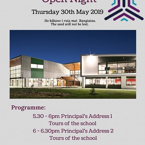 Rolleston College Open Night 2019
