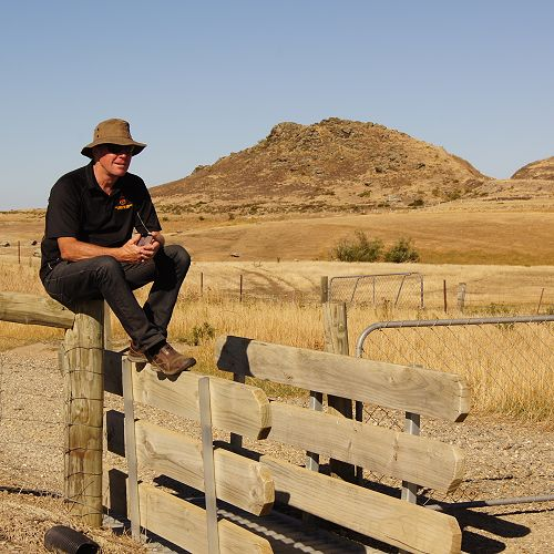 Neil Garry in situ- at home in Central Otago, supporting Year 9 students cycling the Otago Central Rail Trail