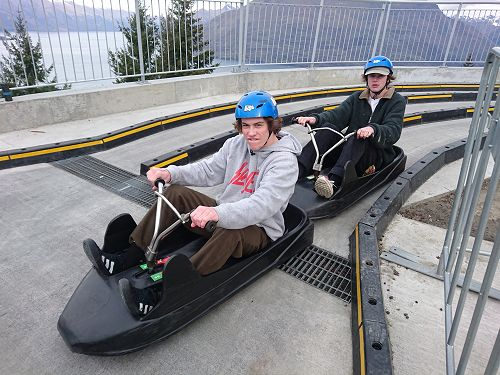 Josef and Ben in the Fast and Furious Queenstown e