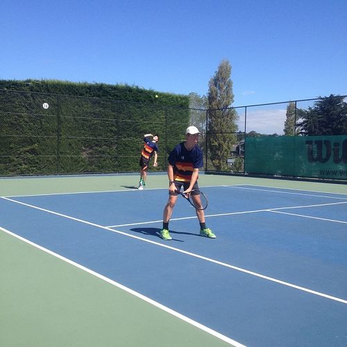 JMC Tennis Team competing at the South Island Secondary Schools Championships, Timaru, 2016