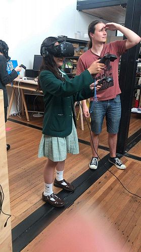 Our students were invited to a Fab Lab workshop and were able to try out Virtual Reality technology.