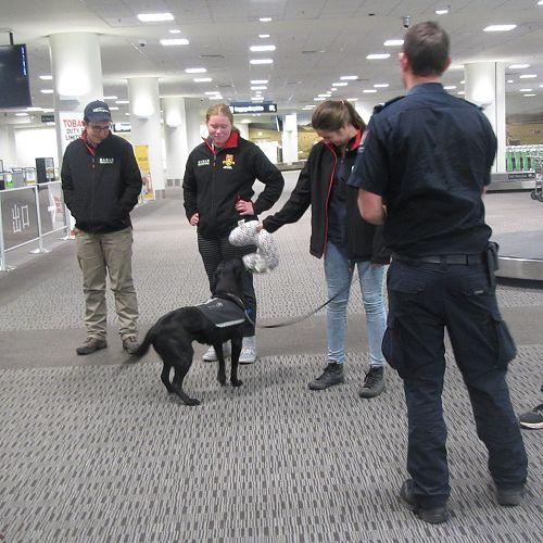 PIA students visit the Customs Dept at Christchurch Airport