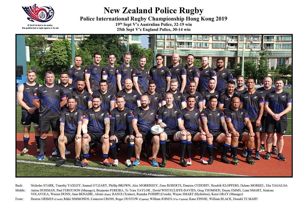 NZ Police Rugby Team 2019