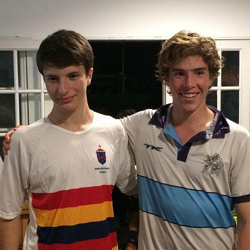 Goalies swap shirts