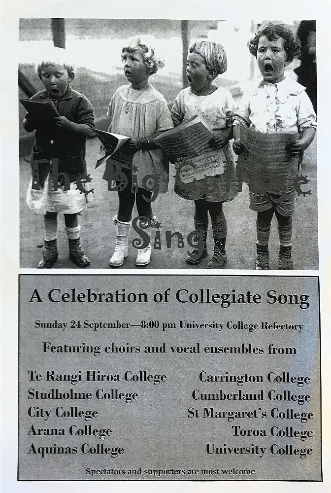 Big College Sing Programme - 24 September 2017