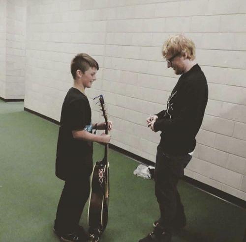Ed Sheeran meets his idol, Rylan Urquhart