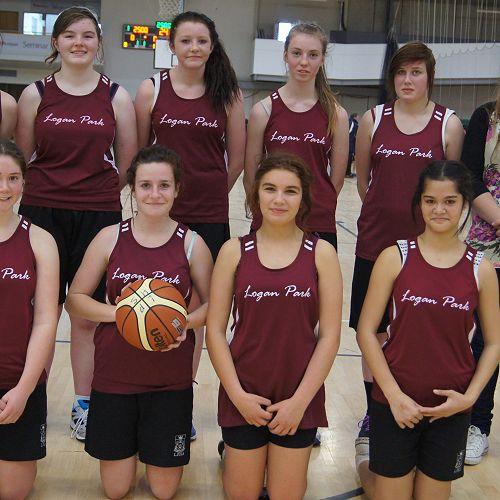 Junior A Girls Basketball team