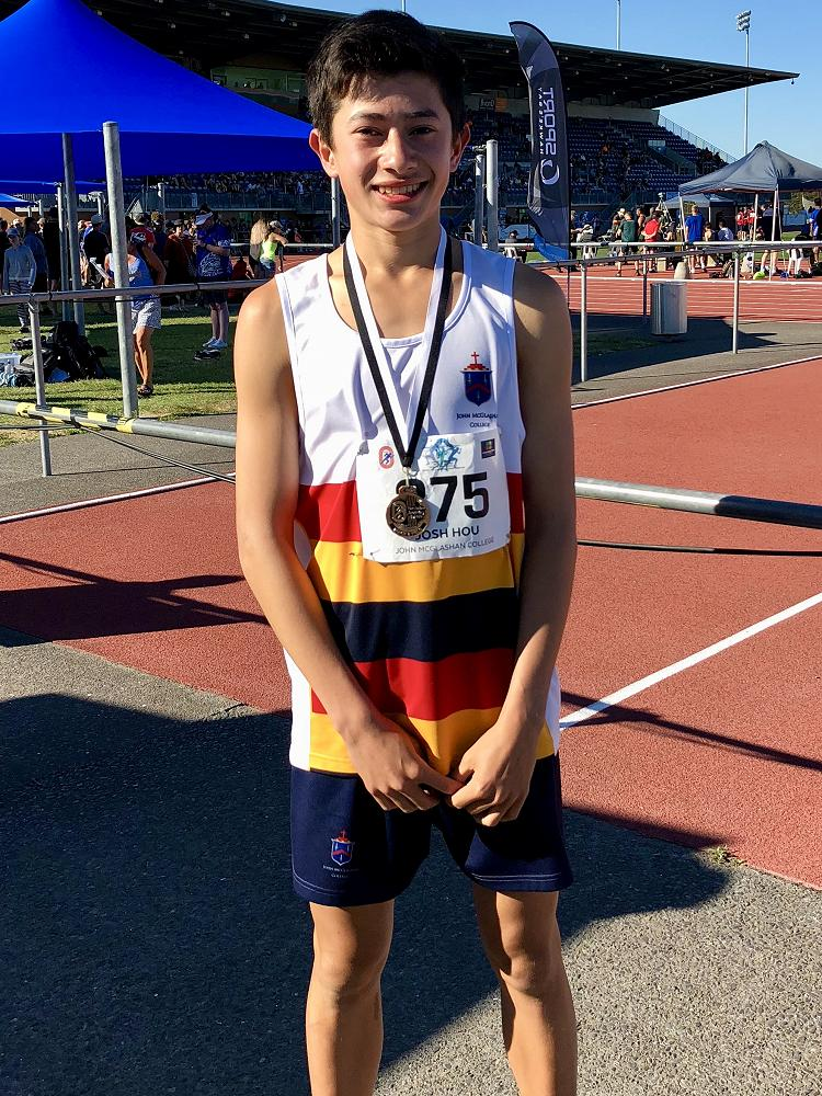Josh Hou 3rd 3000m National Athletics