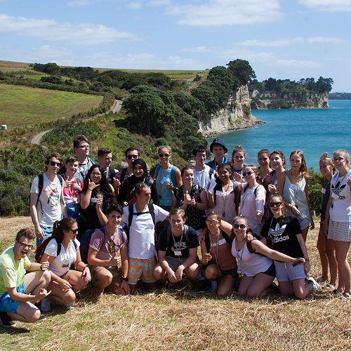 Geoscience group at Long Bay Reserve