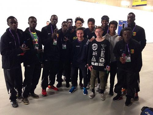 Solomon with the Mali team