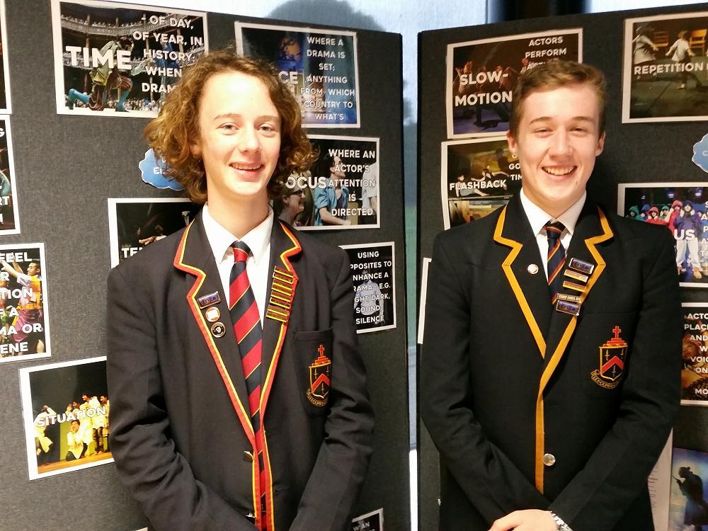 Samuel Leaper and Ben Porter - Fortune Theatre Ambassadors
