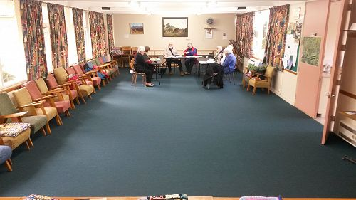 The hall great for meetings