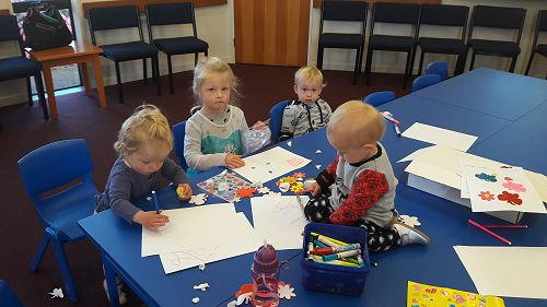 Messy play is always on offer and enjoyed