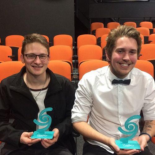 Seamus Casey Memorial Scholarship winners - Dario Kuschke and Joseph Noster