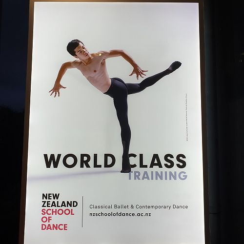 Students visited the NZ School of Dance, where old old boy James Burchell is currently studying