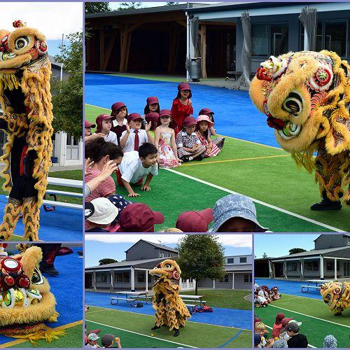 Lion Dancers visit CGS