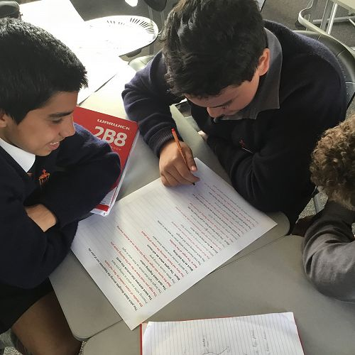 Collaborative poetry, inspired by red, white and black #theyareus as part of the Get NZ Writing Challenge.